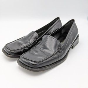 Prada Loafers Shoes Slip On Square Toe Leather